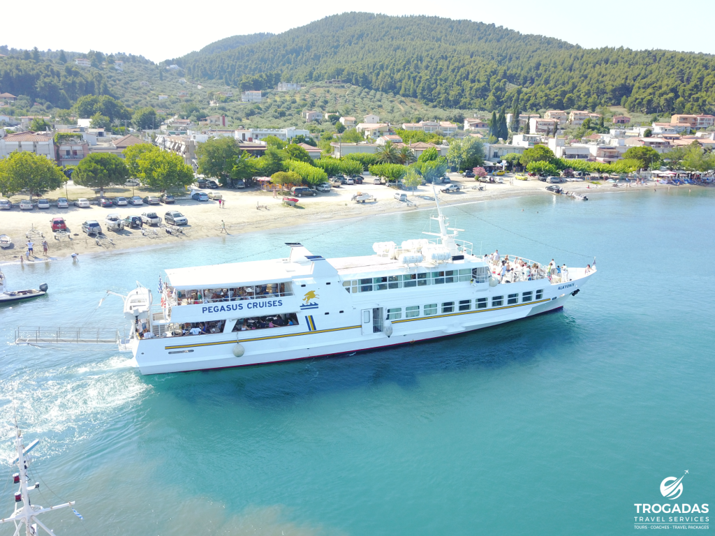 Skopelos Alonnisos Port Trogadas Travel Summer Cruise From Pefki Alkyonis boat