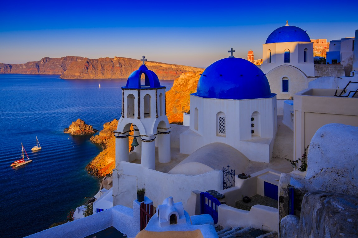 Santorini Church Sunset